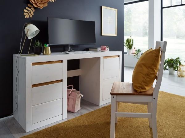 Schreibtisch 'Porto' Kiefer weiß