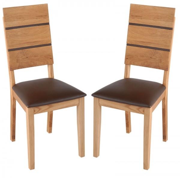 """Stuhlset """"Max"""" montiert Wildeiche braun"""