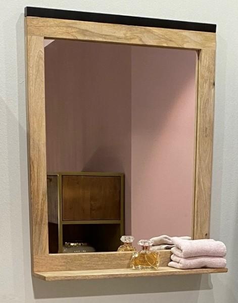 Badspiegel 60x75cm 'Brooklyn' Mango & Metall schwarz