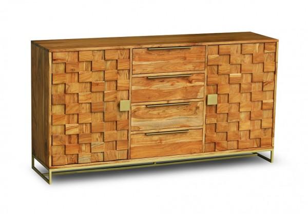 Sideboard 160x85cm 'Assuan' Akazie lackiert mit Schubkästen