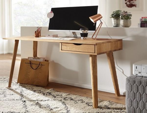 Schreibtisch 150cm 'Alma' Wildeiche geölt