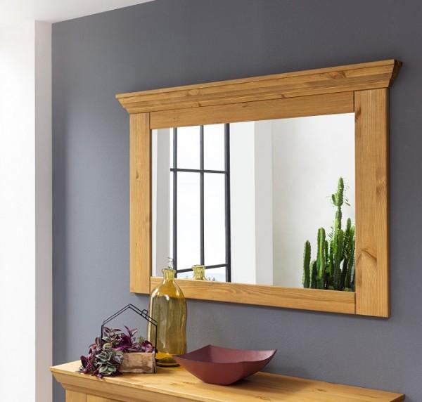 Wandspiegel 109x80cm 'Goeteborg' Kiefer gebeizt geölt WZ-0204