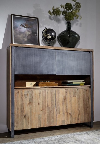 Highboard 130cm 'Genua' Akazie gebürstet