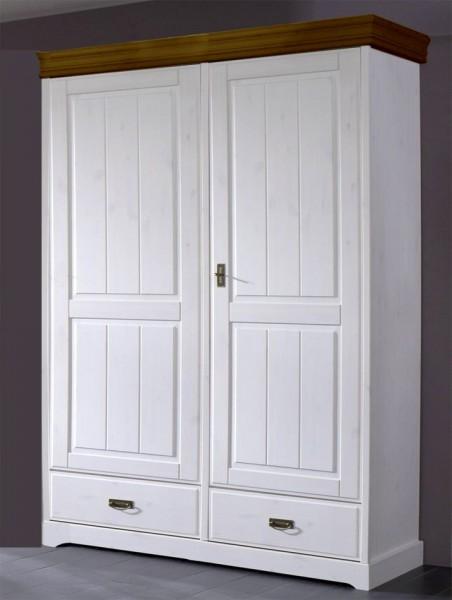 Kleiderschrank 2-trg 'Mailand-Honig' Kiefer weiß