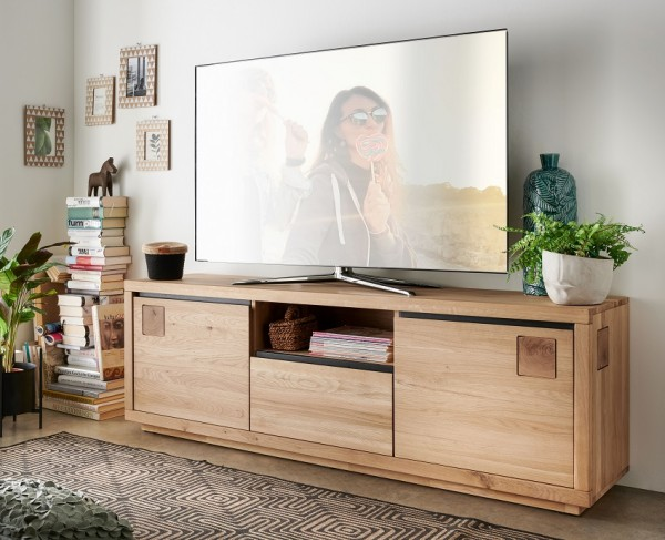 "TV Element 170x56cm ""Bergamo"" Wildeiche geölt"