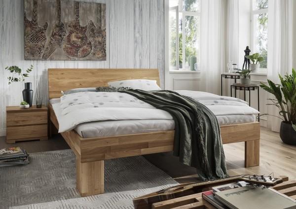 Doppelbett Kopfteil geschlossen 'Astoria I' 180x200cm Wildeiche geölt