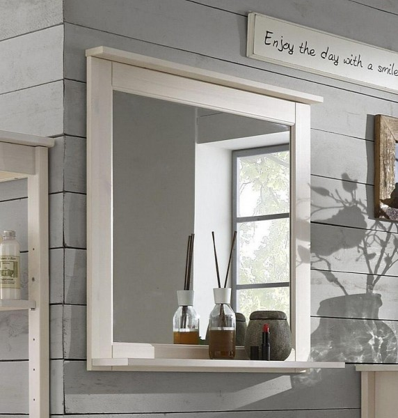 Badspiegel 'Linz' Kiefer weiß