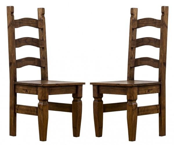 Stuhlset 2er-Set 'Hacienda' Pinie gewachst