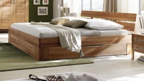 Bett mit Bettkästen 'Bozen' 180x200cm Kernbuche