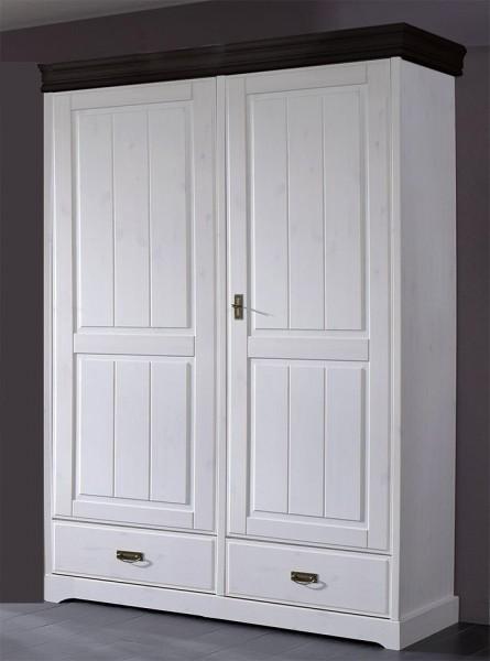 Kleiderschrank 2-trg 'Mailand-Kolonial' Kiefer weiß SZ-0132
