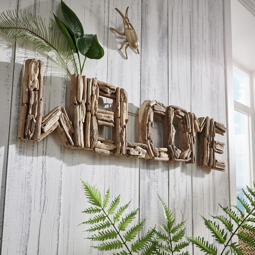 "Wanddeko Welcome ""Style your Life"" recyceltes Holz"