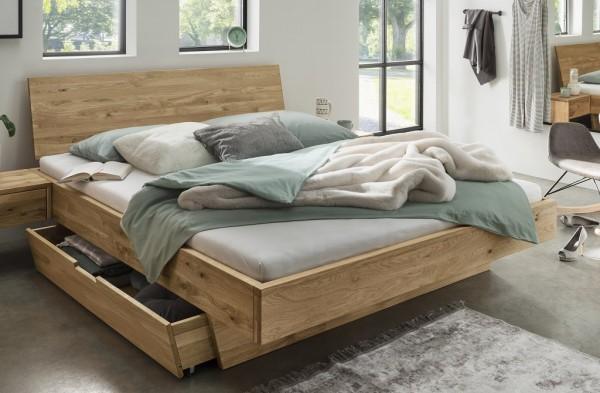 Doppelbett mit Schubkästen 'Redwood I' 180x200cm Wildeiche geölt