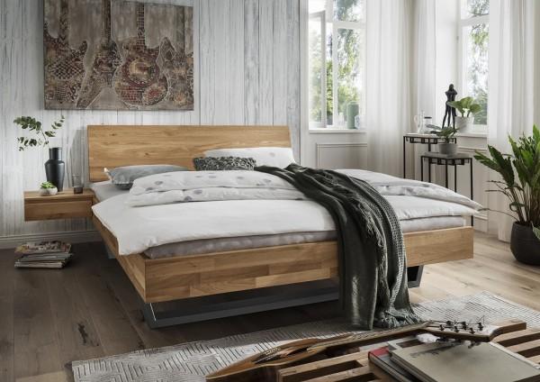 Doppelbett Kopfteil geschlossen 'Astoria III' 180x200cm Wildeiche geölt
