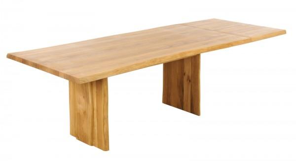 Baumtisch 200(260)x100cm 'Amber' Wildeiche massiv
