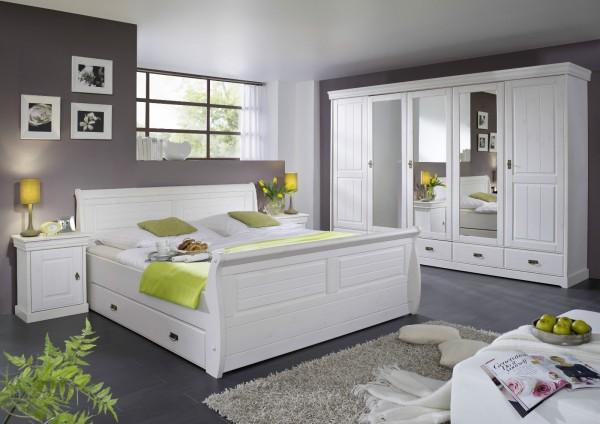 """Schlafzimmer """"Mailand-Weiß"""" Kiefer weiß"""