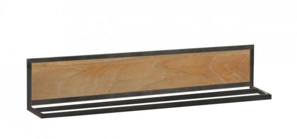Handtuchhalter 80cm 'Brooklyn' Akazie & Metall schwarz