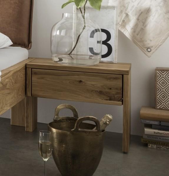 Nachttisch rechts 50x45cm 'Navarra & Astoria' Wildeiche geölt