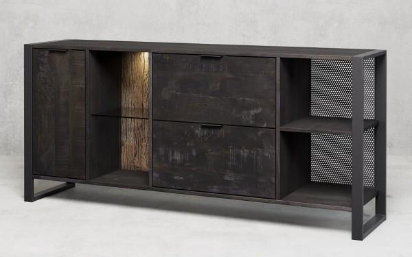 Sideboard mit Beleuchtung 180x82cm 'Stark' Mango & Metall