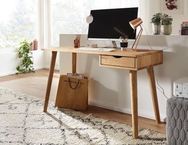 Schreibtisch 120cm 'Alma' Wildeiche geölt Ti-0078