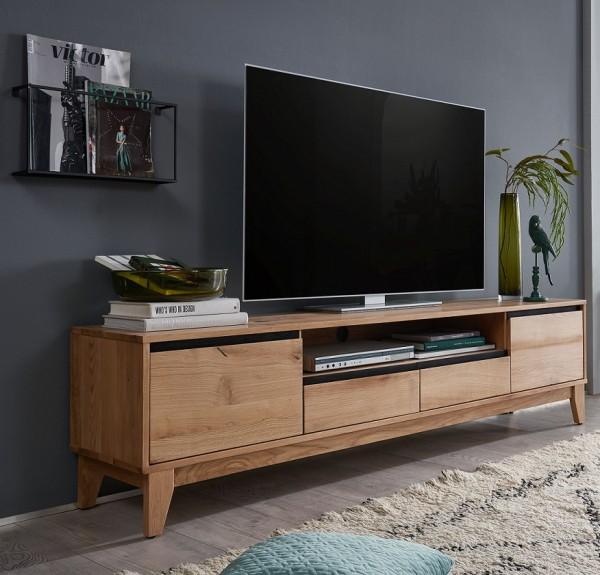 TV Element 200cm 'Pharao' Wildeiche & schwarz