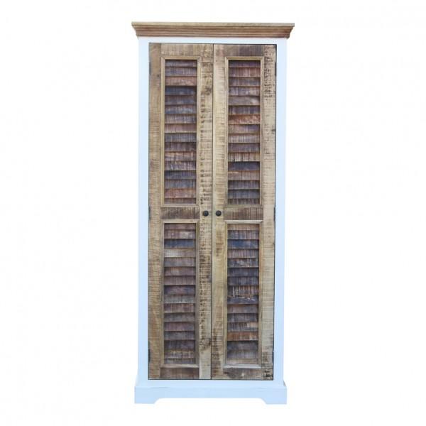 Garderobenschrank 80x190cm 'Nizza' Mango weiß natur
