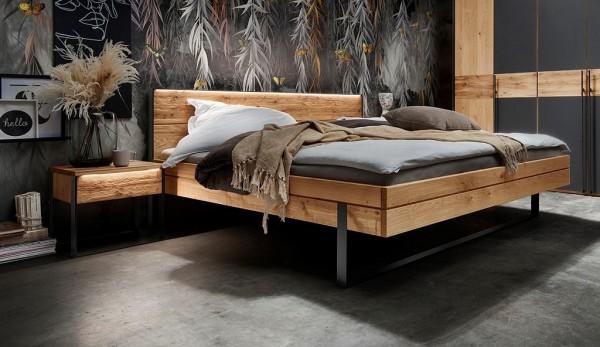 Doppelbett ohne Nachttische 'Boston' 180x200cm Wildeiche geölt