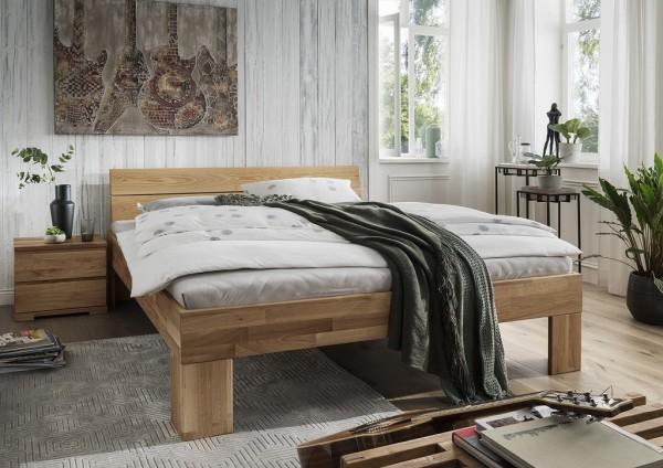 Doppelbett Kopfteil geteilt 'Astoria I' 180x200cm Wildeiche geölt
