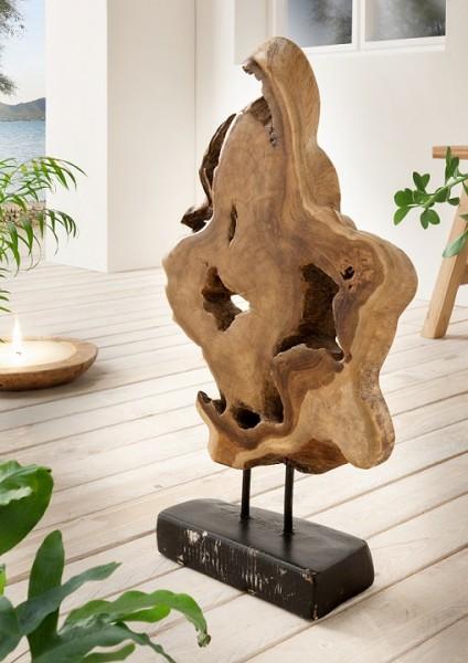 """Deko-Skulptur 43x60cm """"Style your Life"""" Teak"""