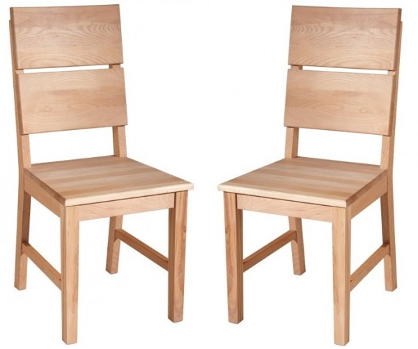 """Stuhlset 2er-Set """"Mike"""" Kernbuche lackiert"""