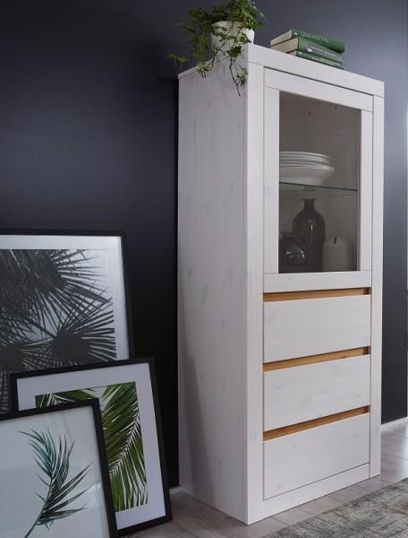 Highboard 62cm 'Porto' Kiefer weiß