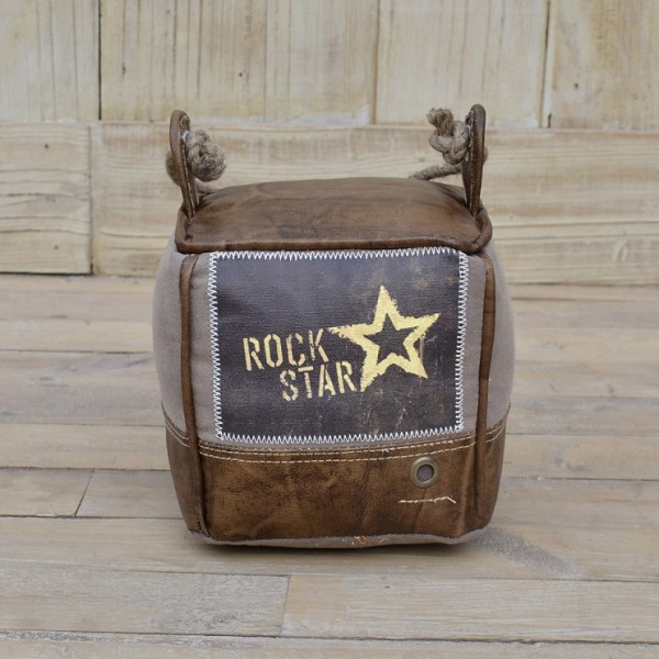"Türstopper ""Rockstar"" Leder braun"