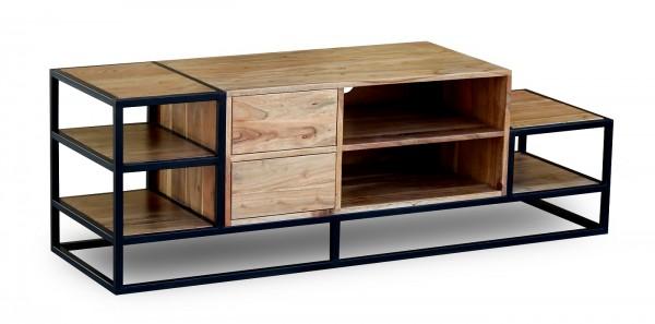 TV Element 150x50cm 'Denver' Akazie & Metall