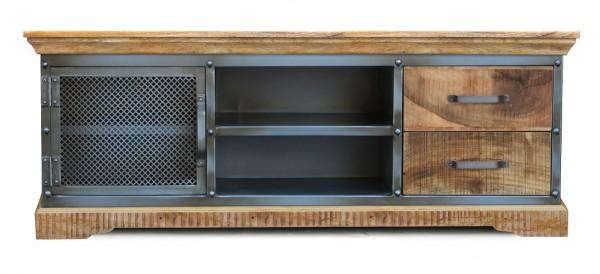 TV Element 145x55cm 'Detroit' Mango natur Metall