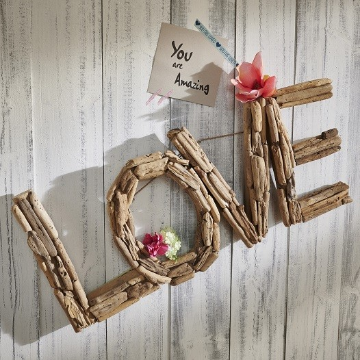 "Wanddeko Love ""Style your Life"" recyceltes Holz"