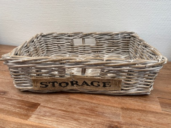 "Korb 48x13cm ""Style your Life"" Rattan natur"