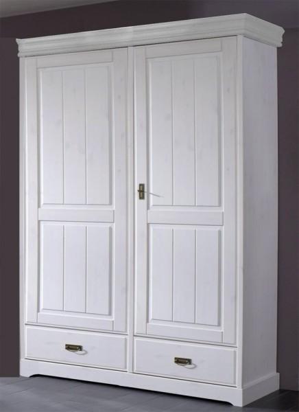 Kleiderschrank 2-trg 'Mailand-Weiß' Kiefer weiß
