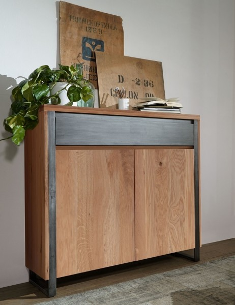 Highboard 110x128cm 'Taipeh' Wildeiche massiv