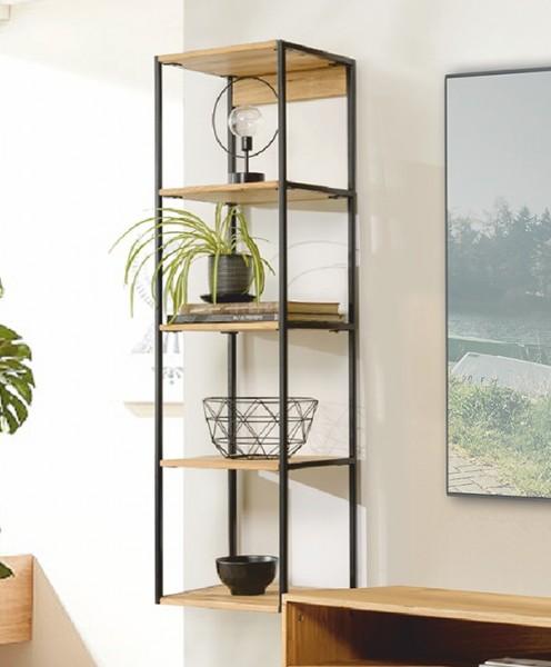 """Wandboard 35x128cm """"Manhattan"""" Eiche & Stahl schwarz"""
