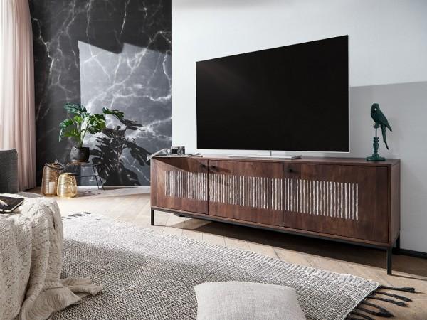 TV Element 3 Türen 180x60cm 'Bologna' Mango massiv