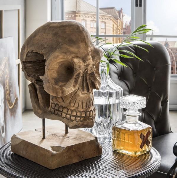 "Deko-Totenkopf ""Skull"" Teak natur"