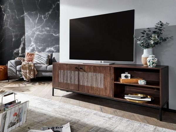 TV Element 2 Türen 180x60cm 'Bologna' Mango massiv