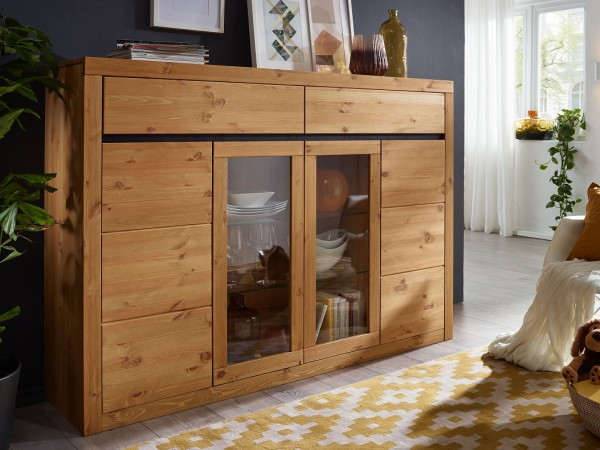 Highboard 170cm 'Porto' Kiefer eichefarbig