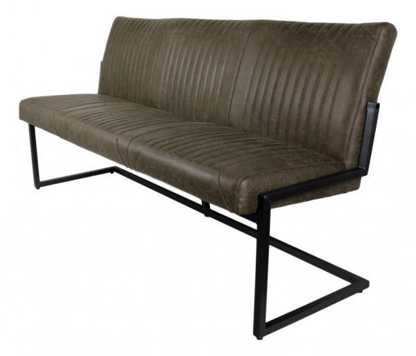 Sitzbank 170cm 'Texas' Polster grün & Eisen schwarz