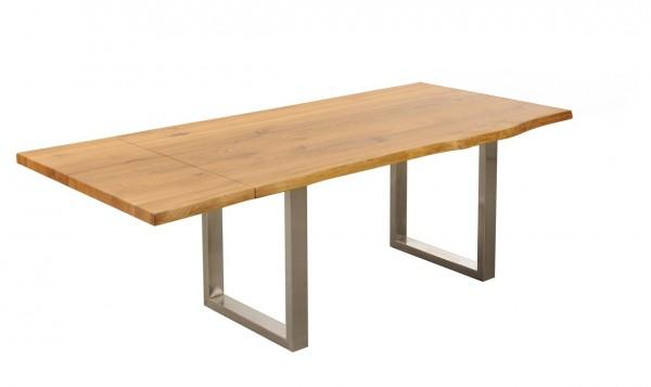 Baumtisch 200(260)x100cm 'Amber II' Wildeiche massiv