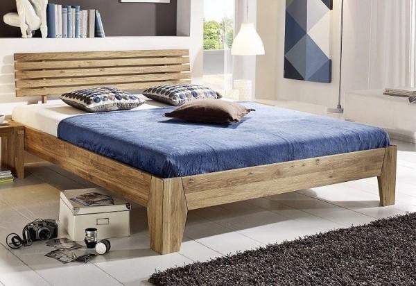 Doppelbett 'Klara' 160x200cm Wildeiche geölt