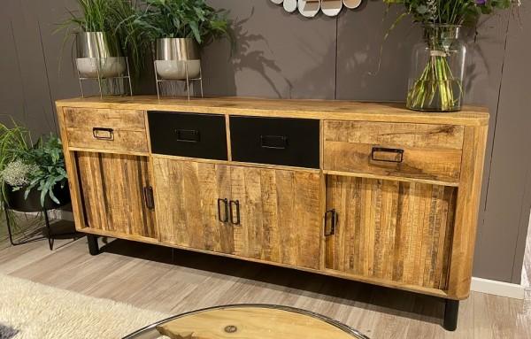 Sideboard 200x85cm 'Wild Coast' Mango & Eisen