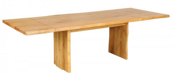 Baumtisch 160(240)x90cm 'Amber' Wildeiche massiv