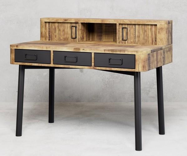Schreibtisch 120cm 'Wild Coast' Mango & Eisen