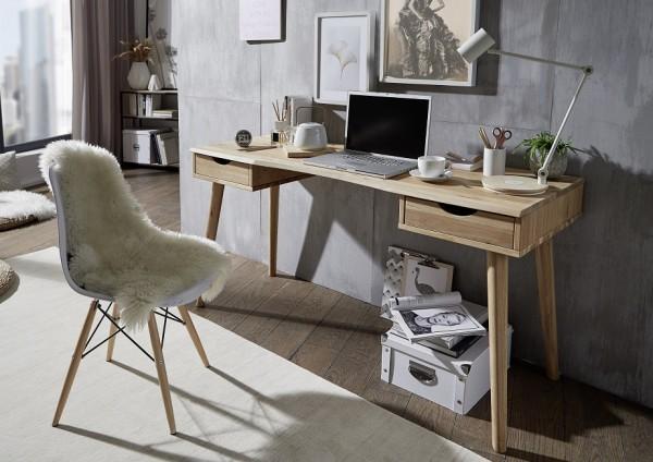 Schreibtisch 2 Schubkästen 150cm 'Alma' Wildeiche geölt